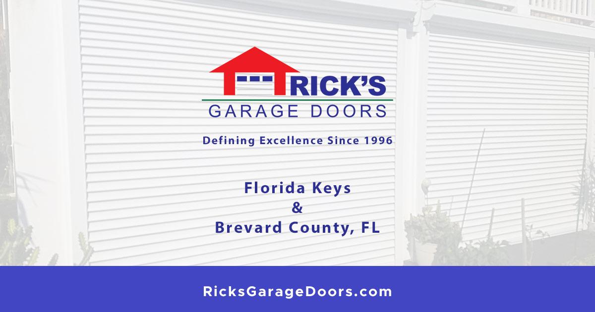 Rick S Garage Doors Serving The Florida Keys And Brevard County Fl